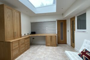 Barford Solid Oak Desk With Fitted Office Storage